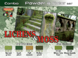 LC-SPG06 Lichens & Moss Powder & Colour Set (22ml x 6)